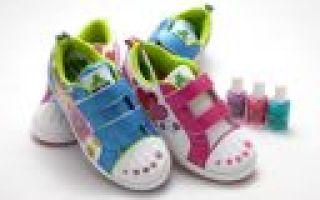 Бизнес идея: детская обувь для раскрашивания