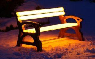 Идея бизнеса: светящиеся в темноте скамейки