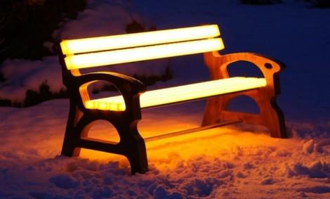 уличные скамейки светящиеся